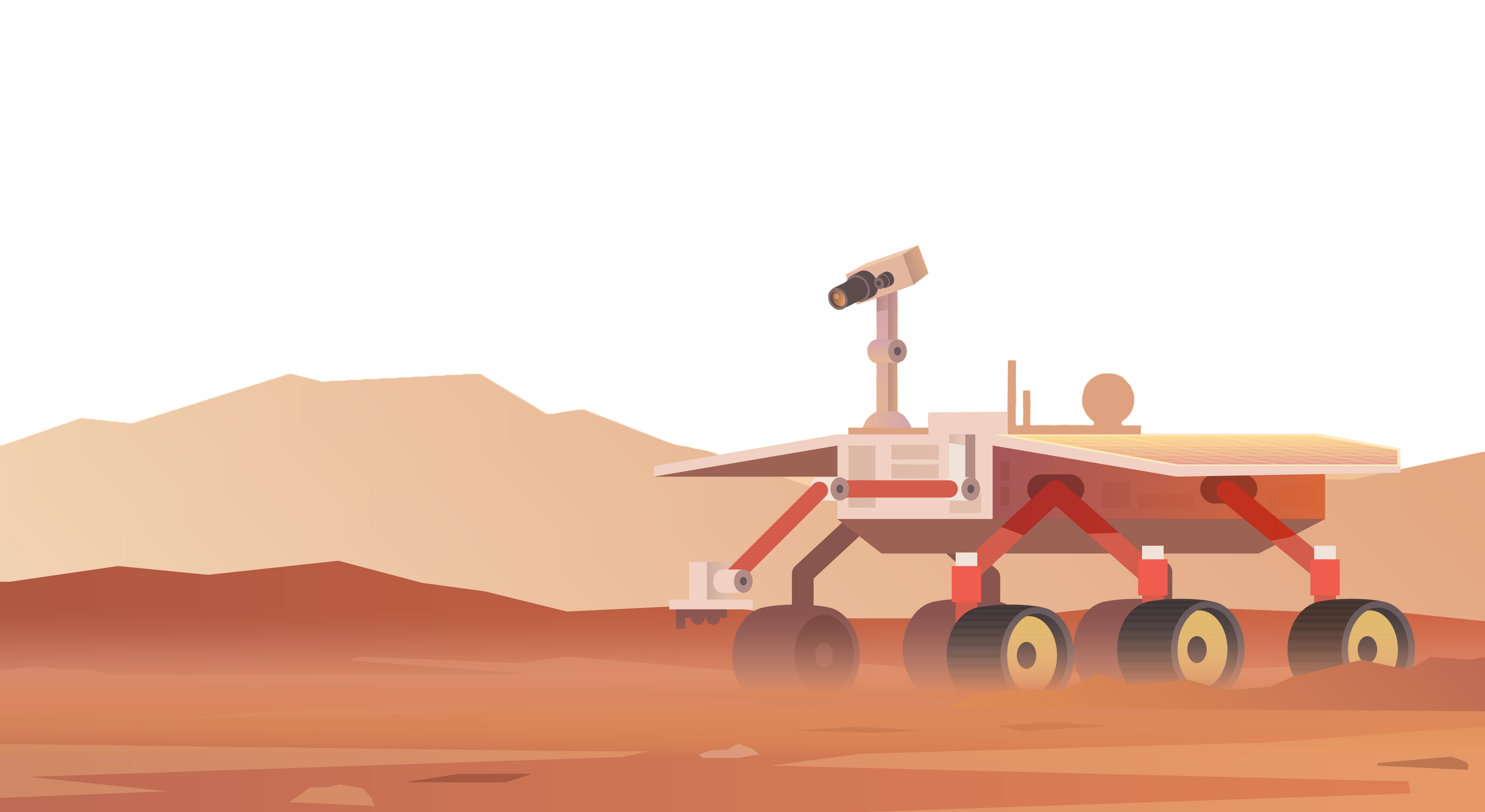 rover on planet
